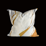 """Gold Marble"" Scatter Cushion"