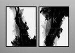 """Light & Dark"" print - diptych"