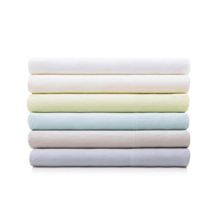 Woven Bamboo Sheet Set in Ash, Driftwood, White, Citron, Ivory, and Rain colors