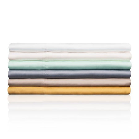 Tencel Sheets by Woven in White, Opal, Ecru, and Dusk Colors