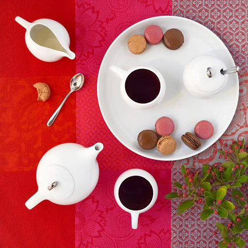 EVA - 6 Piece Tea Set - White porcelain - NutriTeaCup
