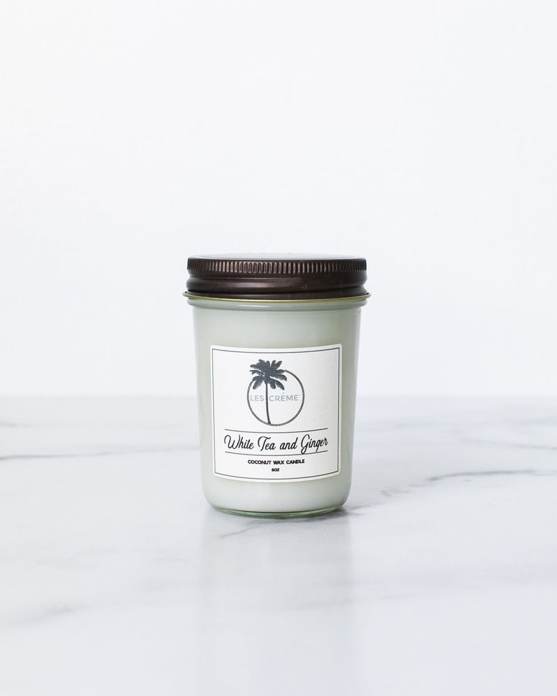 White Tea + Ginger Scent Coconut Wax Candle - NutriTeaCup
