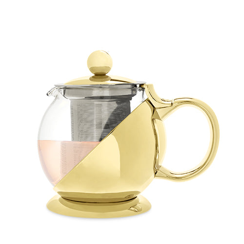 Shelby™ Gold Wrapped Teapot & Infuser - NutriTeaCup