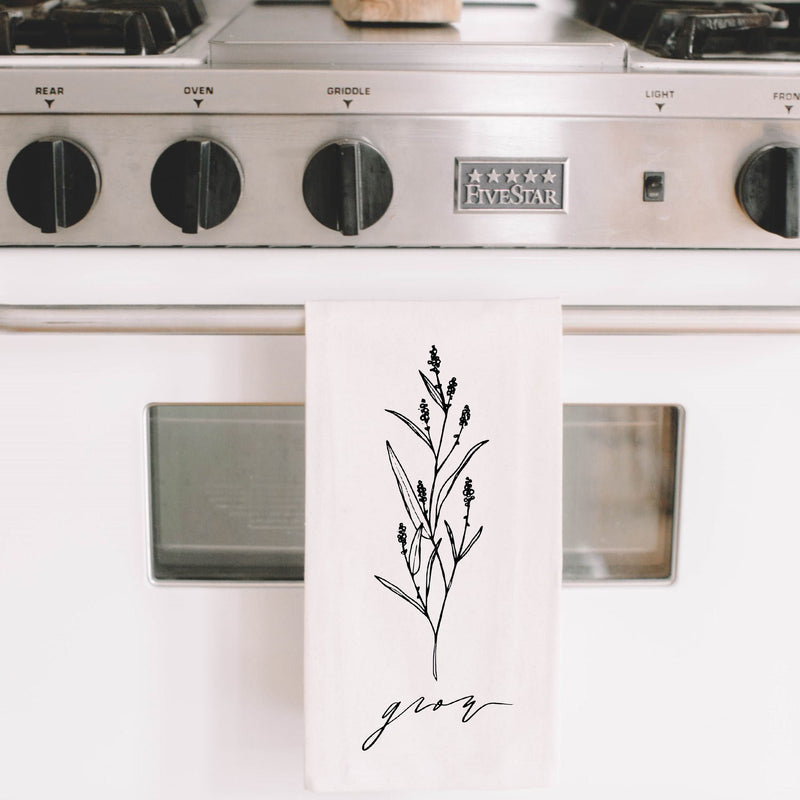 Grow Wildflower Tea Towel - NutriTeaCup