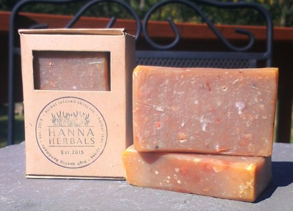 Egyptian Amber Soap 4 ounce bar -shea butter soap - NutriTeaCup