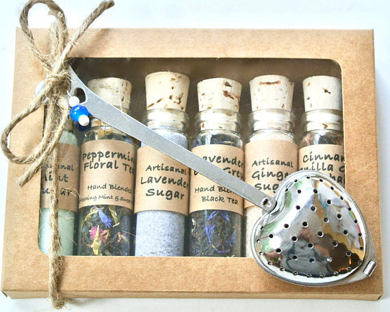 Tea & Sugar Sampler Gift Set, 6 Mini Bottles - NutriTeaCup