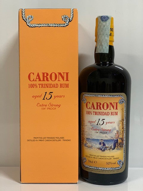 Caroni 104 Proof Extra Strong 15 Rum con box - 70 cl