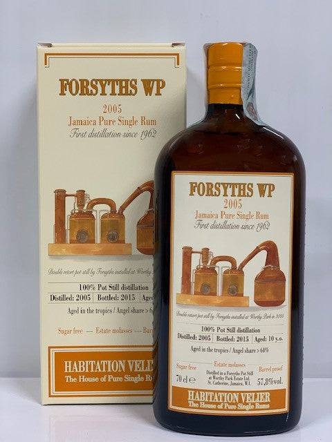 Forsyths WP 2005 Jamaica Pure Single Rum -0,70cl- Box 57.8% vol.