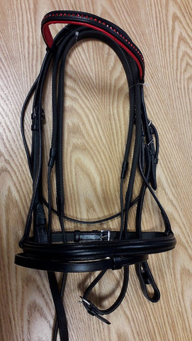 Leather Bridle with Diamante Detail - Saoirse Saddlery