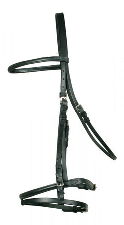 Flash Bridle with Continental Reins - Saoirse Saddlery