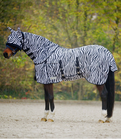 Zebra Print Fly Sheet - Saoirse Saddlery