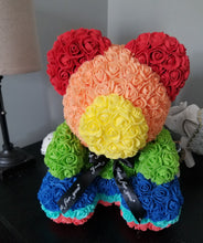 Load image into Gallery viewer, Rainbow Rose Teddy Bear Special Edition