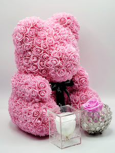 Pink Rose Teddy Bear