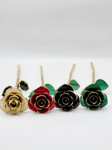 WHITE 24K GOLD DIPPED ROSE