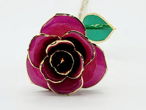 PURPLE 24K GOLD DIPPED ROSE