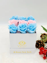Load image into Gallery viewer, Classic Square Gender Reveal Mini Rosas Box Arrangement