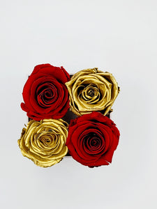 Classic Square Gold and Red Roses
