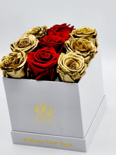 Load image into Gallery viewer, Classic Square Gold, and Red Roses Christmas Gift