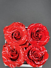 Load image into Gallery viewer, Classic Square Marbled Red Roses