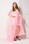 Baby Pink Satin & Net 2Pcs Set