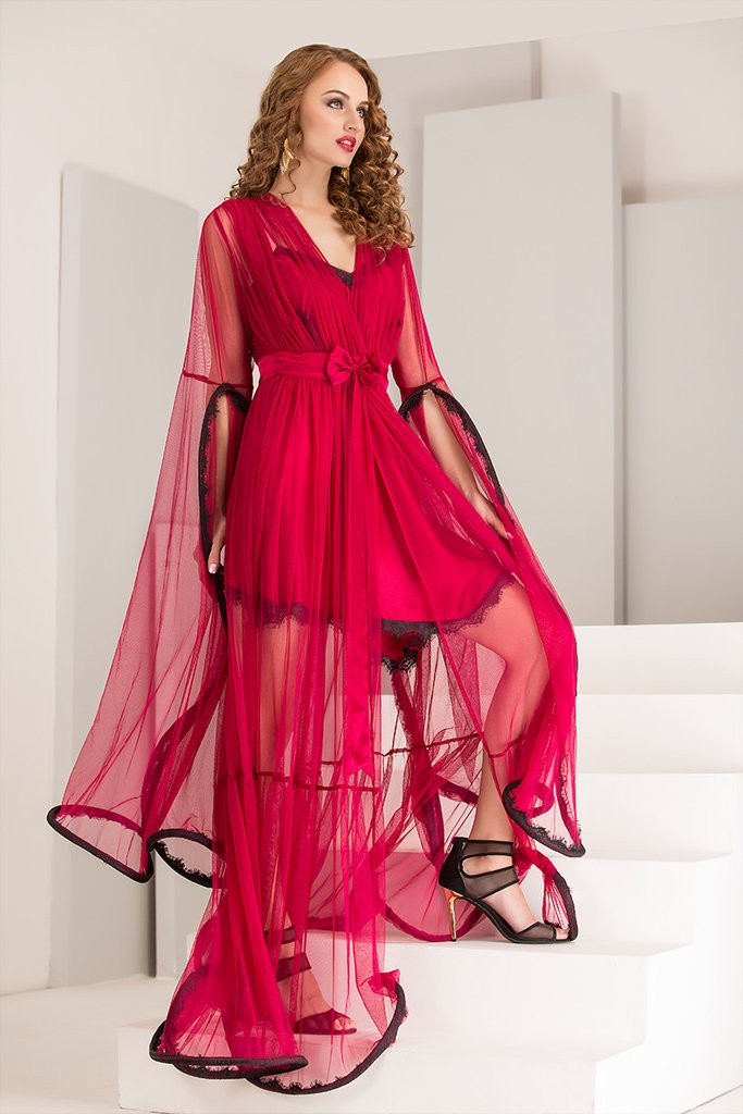 Designer Nighty & Robe Nightgown Set
