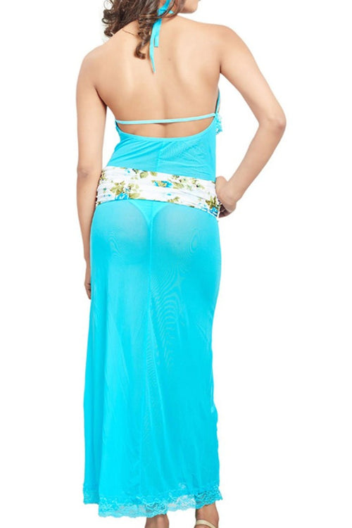 Women Turquoise Sexy Nighty