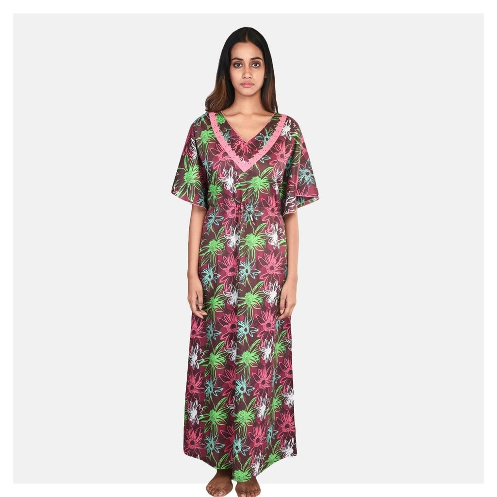 Women All Over Printed Cotton Kaftan - Suman Nathwani