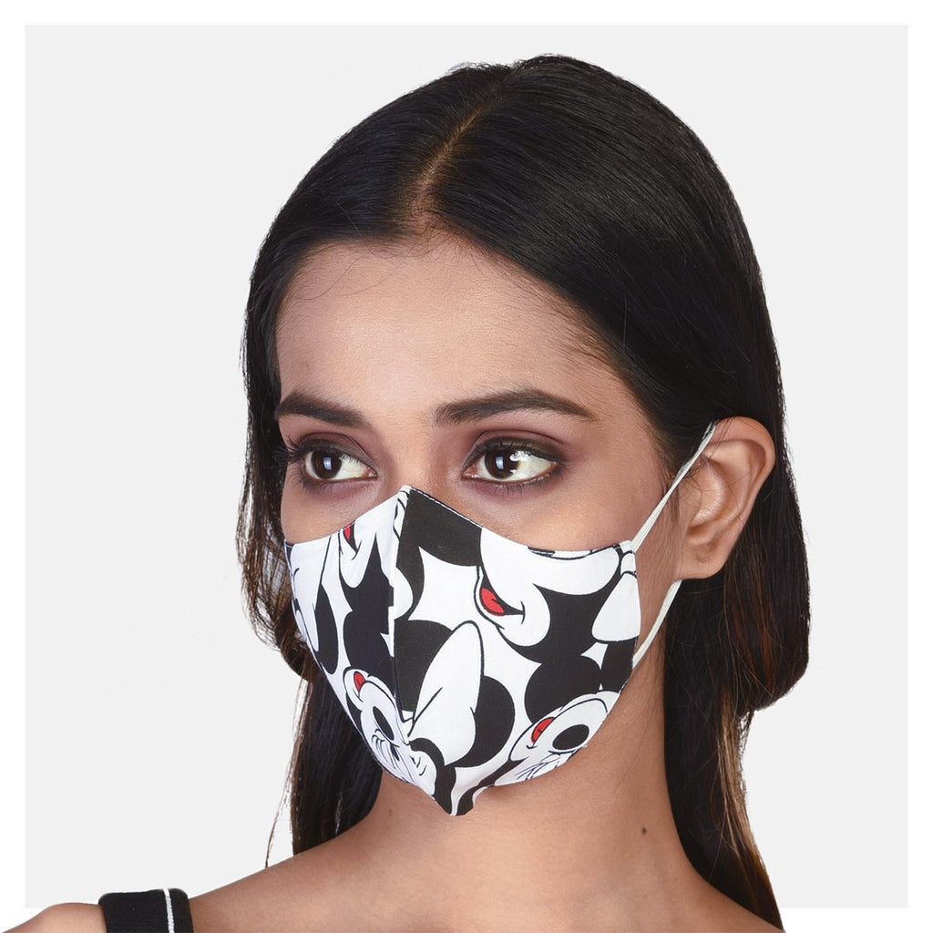 Printed Japanese Cotton 2 Ply Mask (Pack of 2) - Suman Nathwani
