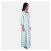 Women Light Blue Simple Super Comfy Cotton Nighty