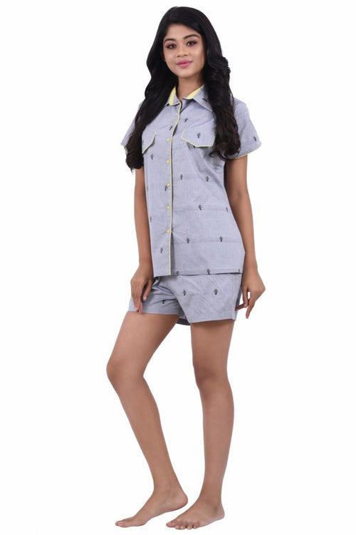 Women Cotton Shorts Set