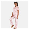 Women Peach Fine Lobster Print Cotton Nightwear