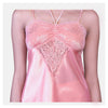 Women Peach Korean Satin Top And Short Nightsuit Set