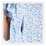 Women Floral Print Flap Style Cotton Feeding Nighty