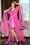 Satin Nightie & Designer Robe Nightgown Set