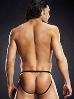 Men's Sexy Thong With Metal Rings By Blue Line