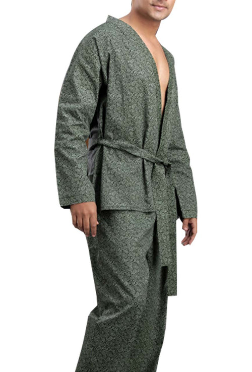 La Lingerie – Suman Nathwani – Men's cotton Short Night Gown – Green