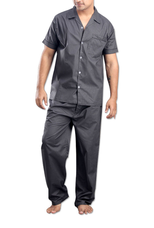 La Lingerie – Suman Nathwani – Men's pure cotton deep grey Night Suit