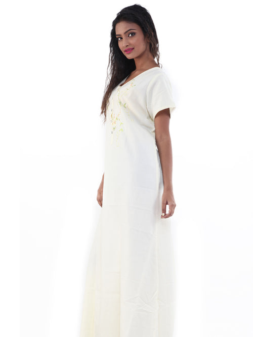 Women Cotton Nighty By Suman Nathwani