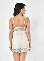 Women Cotton With Lace Top & Shorts Set