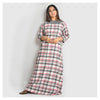 Woman Pink And Grey Checks Brushed Cotton Nighty - For Mild Winters