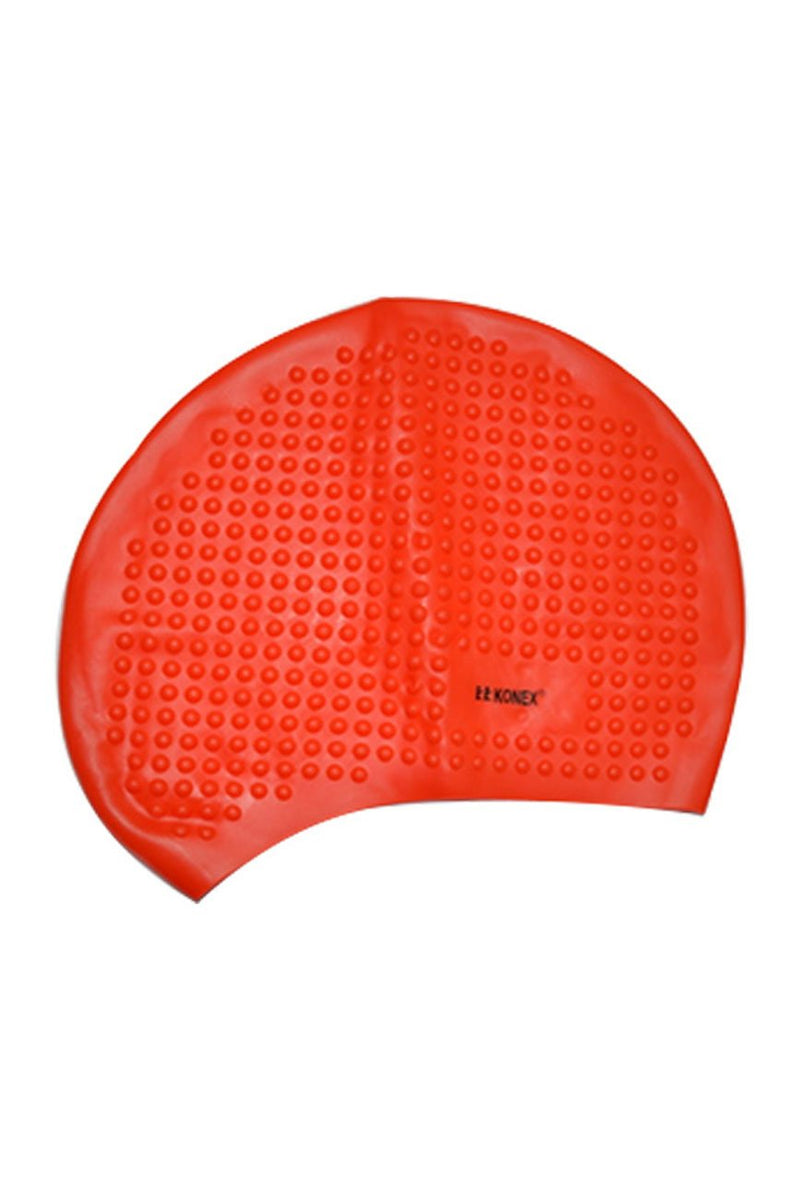 Unisex Bubble Design Silicone Swimming Cap For Long Hair