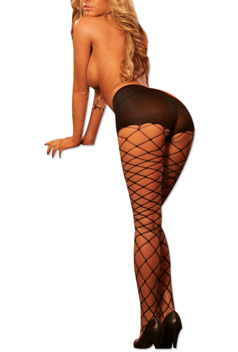 Women Fashion Big Fishnet Stockings Pantyhose By Hustler