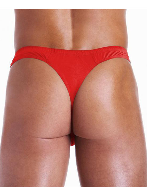 Men's Sexy Up Zip Thong By Hustler