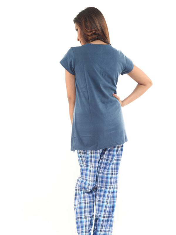 Women Hosiery Cotton Top & Pyjama Set