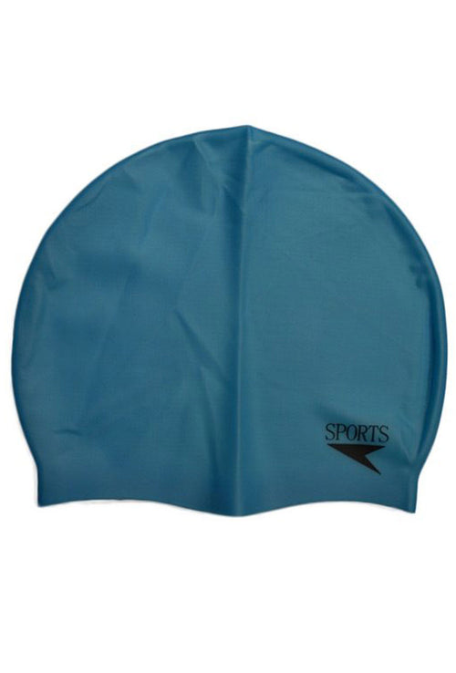 Unisex Plain Moulded Silicone Swimming Cap Multiple Colour Option