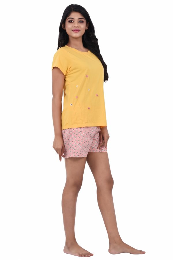 Women Hosiery Cotton Shorts Set