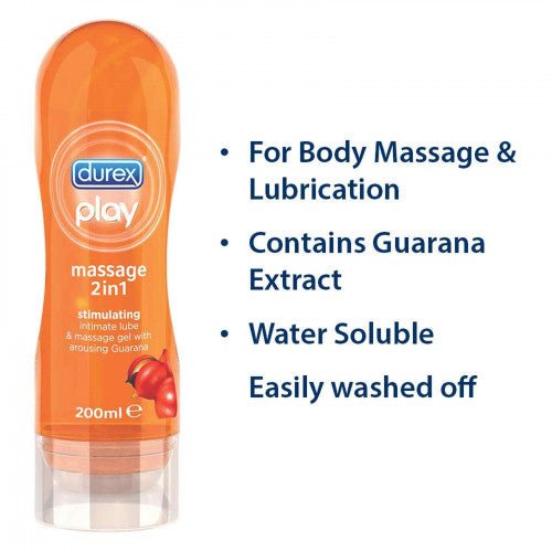Durex Stimulating Massage 2 In 1 Gel 200ml