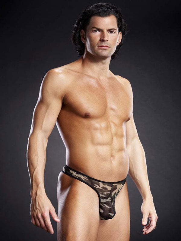 Men's Sexy Mesh Thong By Blue Line