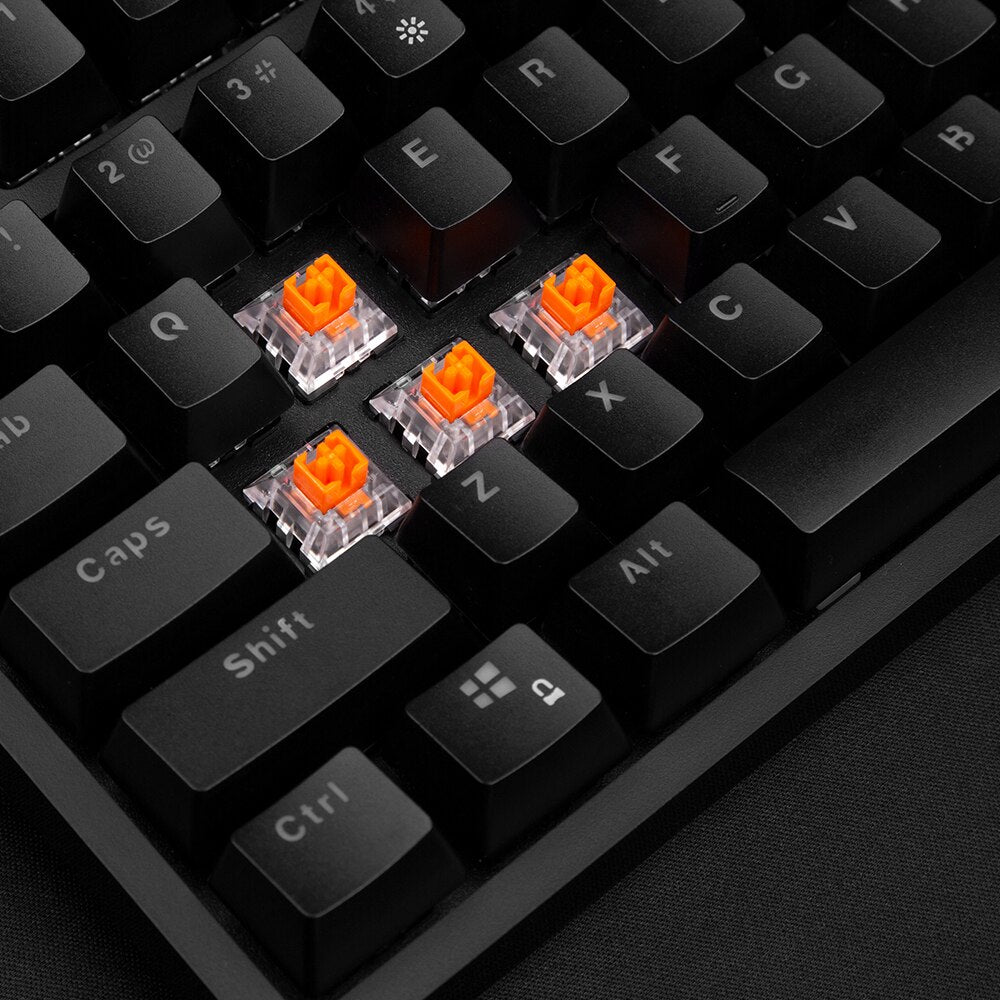What are the optical switches that the Venatos Northern Glow TKL use?
