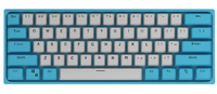 PREORDER VEN Mini [Blue and White] - Wireless Hot Swappable 61 Key 3-Pin Mechanical Keyboard
